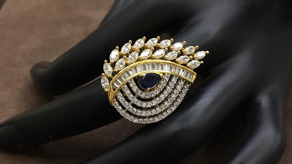 American Diamond finger rings with an year warranty
