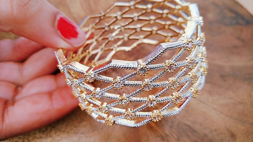 American Diamond Kada, Bracelet with an year warranty