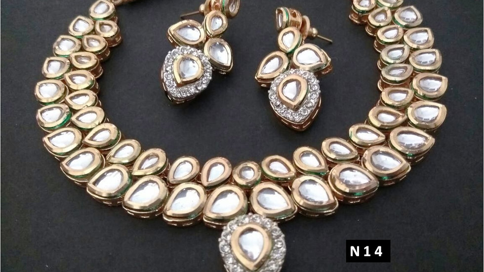 High quality kundan necklace set with warranty