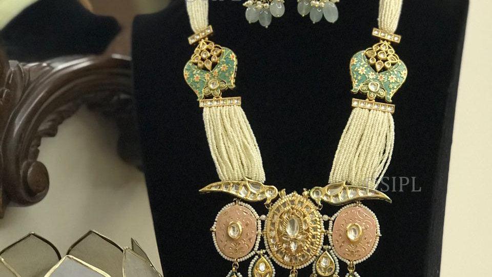Luxury Design high-Quality Kundan Meenakari Necklace Set