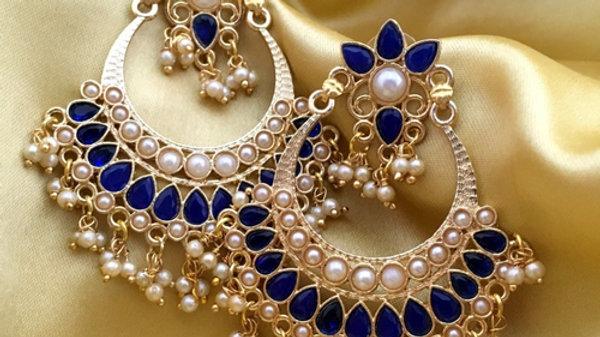 Brass+ American Diamond Stone Jhumki with an year warranty