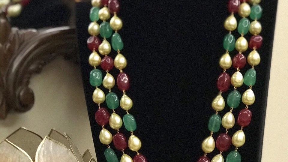 Beautiful Baroque Pearl with Tumble Chain