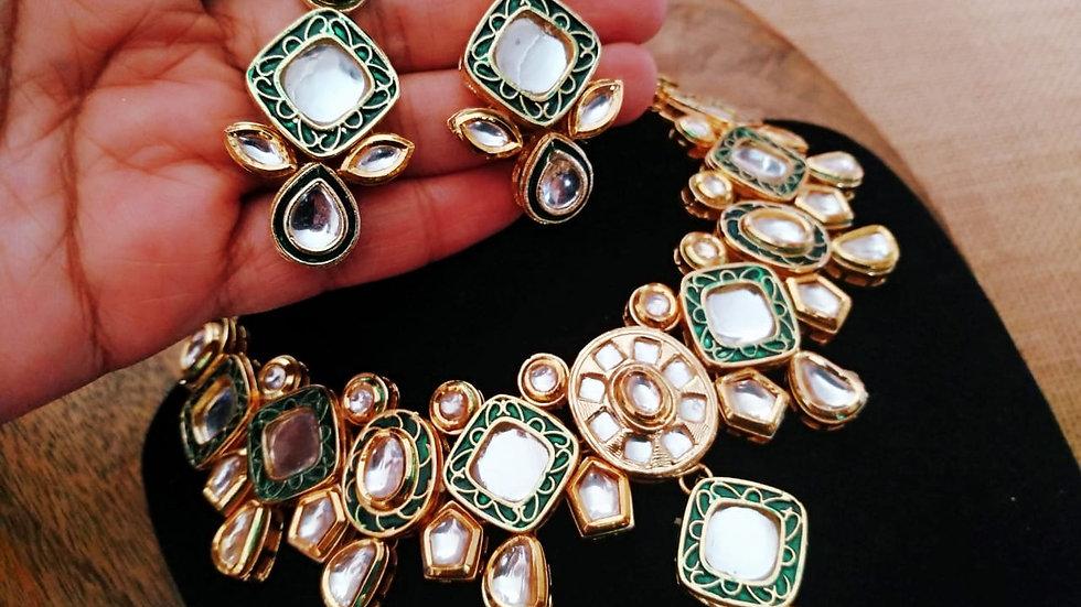 Buy this beautiful Kundan Choker Set with Beautiful pair of earrings