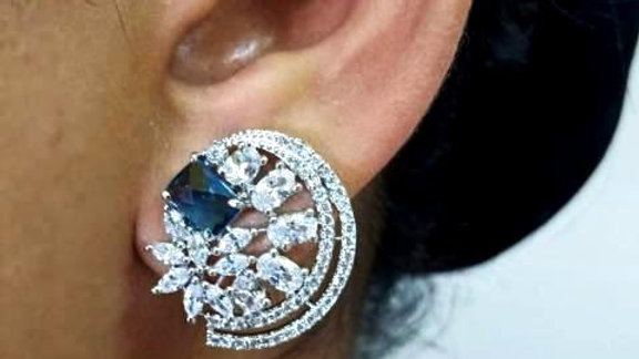 Buy this Pure Cubic Zircon(American Diamond) stud with warranty