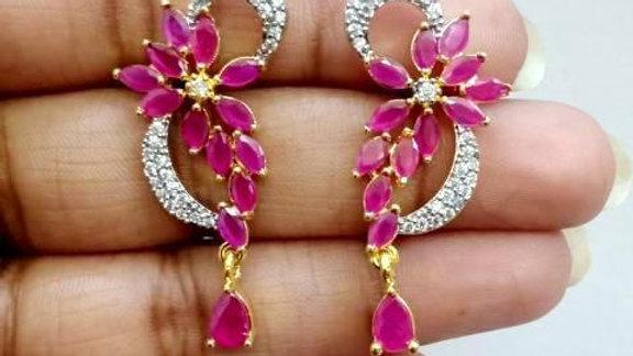 Pure Cubic Zircon(American Diamond) earring with warranty