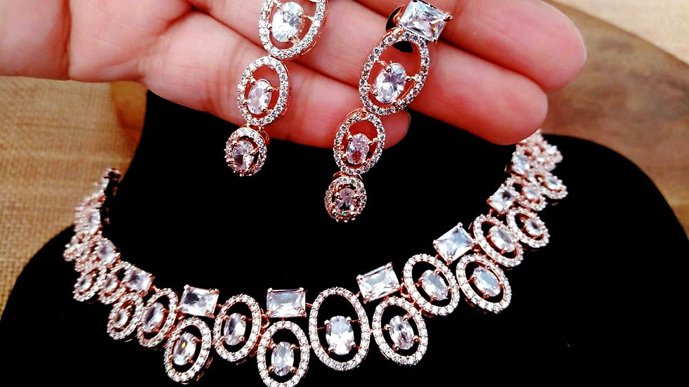 Beautiful Necklace set with warranty