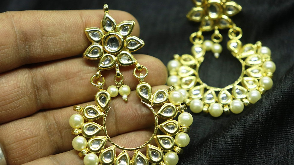 Kundan Earrings,dangler with warranty