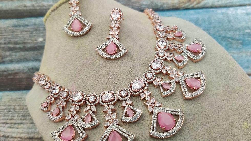 Premium quality American Diamond,Cubic Zircon Necklace set