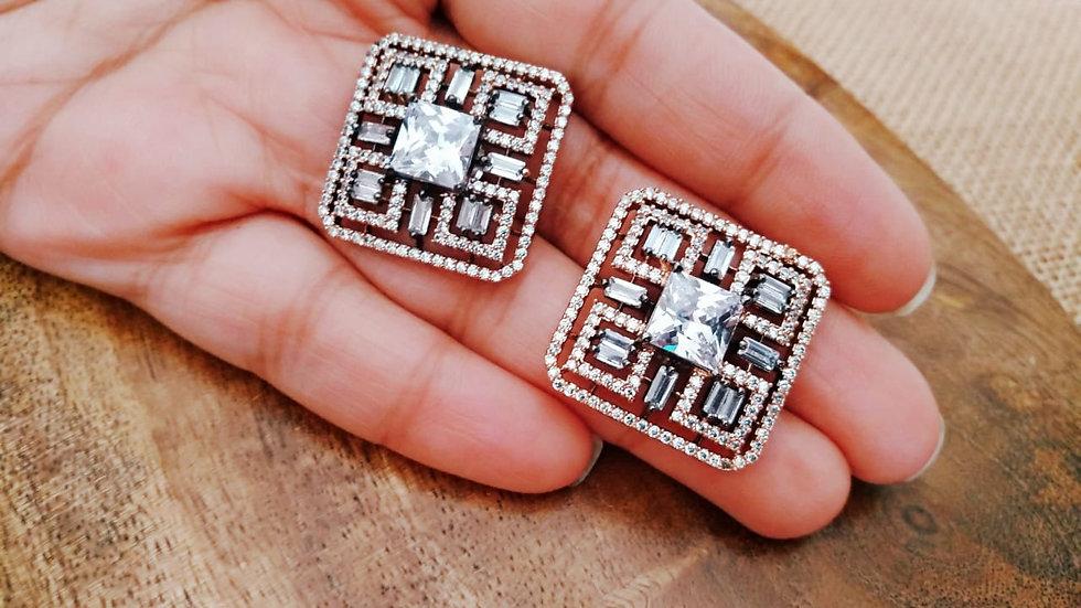 Cubic zircon,American Diamond stud with warranty