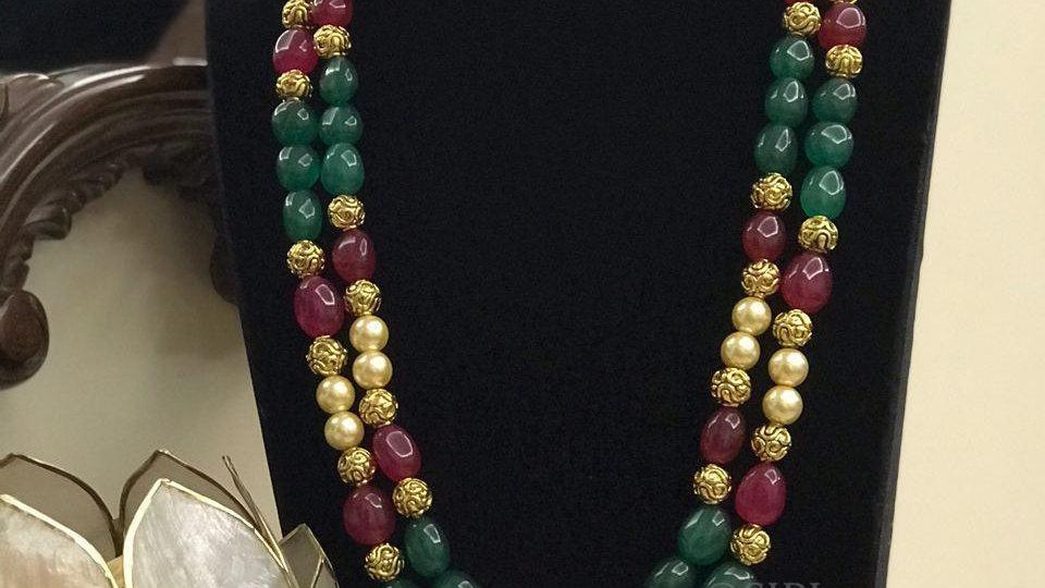 Beautiful Handmade Tumble Natural Stone Antique beads Mala