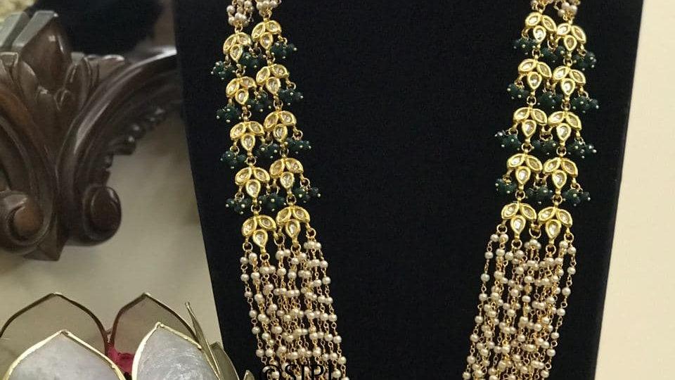 Amazing design Gold Plated Kundan Meenakari Necklace Set