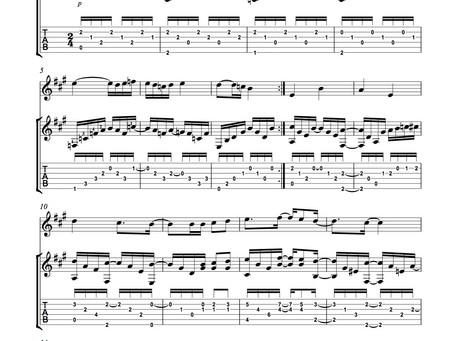 Alegre Meláncolía composición de Juan Manuel Ávila obra de concierto para Dúo Guitarra-Flauta