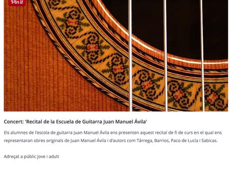 Concert: 'Recital de la Escuela de Guitarra Juan Manuel Ávila'