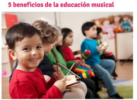 5 beneficios de la educación musical