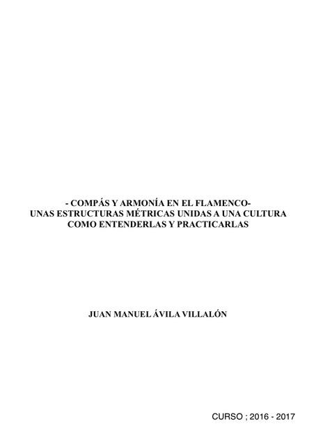 COMPÁS FLAMENCO