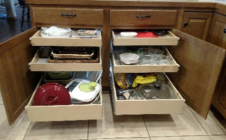 Fall in Love with Your Kitchen Again with Slide Out Shelves!