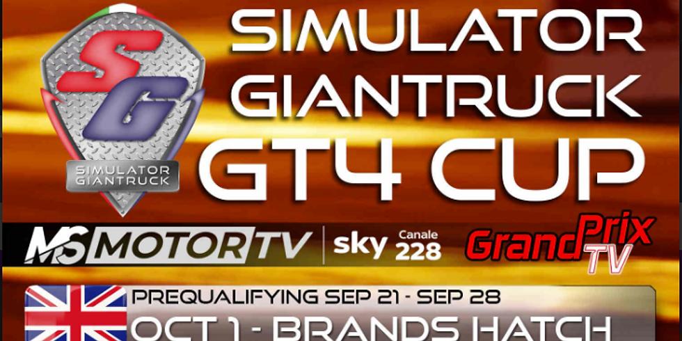 Simulator Giantruck GT4 Cup By E-Sport series gara 1 Brands Hatch