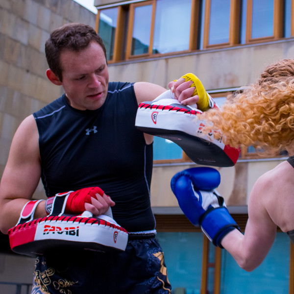 Experience the rush as you learn and practice boxing strikes & combos!