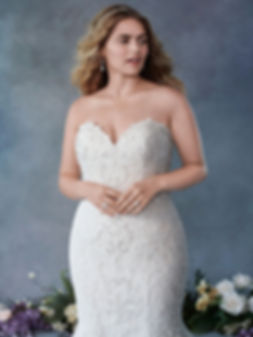 Kennenth Winston plus size wedding dress