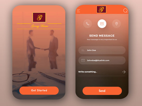 UX/UI Design for a law firm