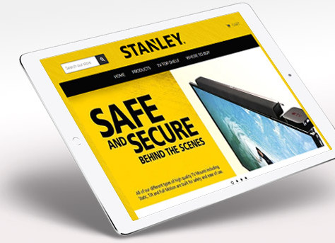 BROCHURE AND ONLINE STORE FOR STANLEY TV MOUNTS MANUFACTURER