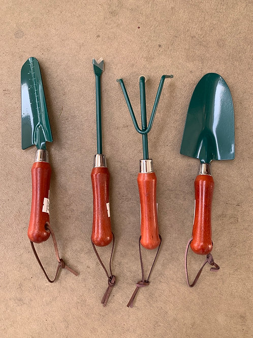 Garden Tools with Wood Handles