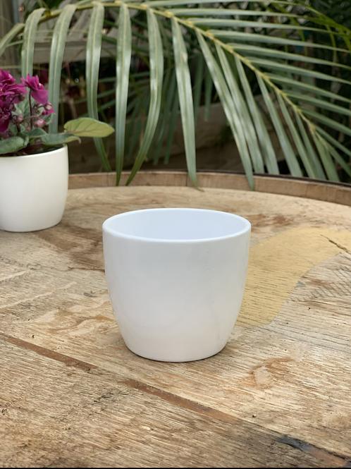 "White Glazed Ceramic pot 2.5"""