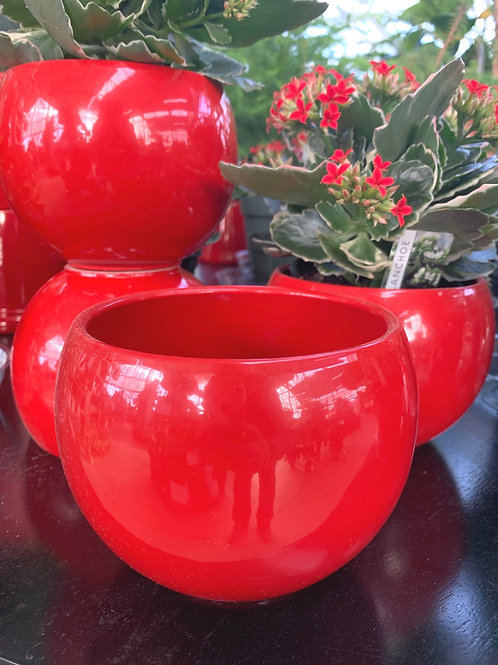 Red Sphere Pot 4.5""