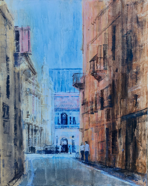 Romance in Florence - acrylic -  Sold