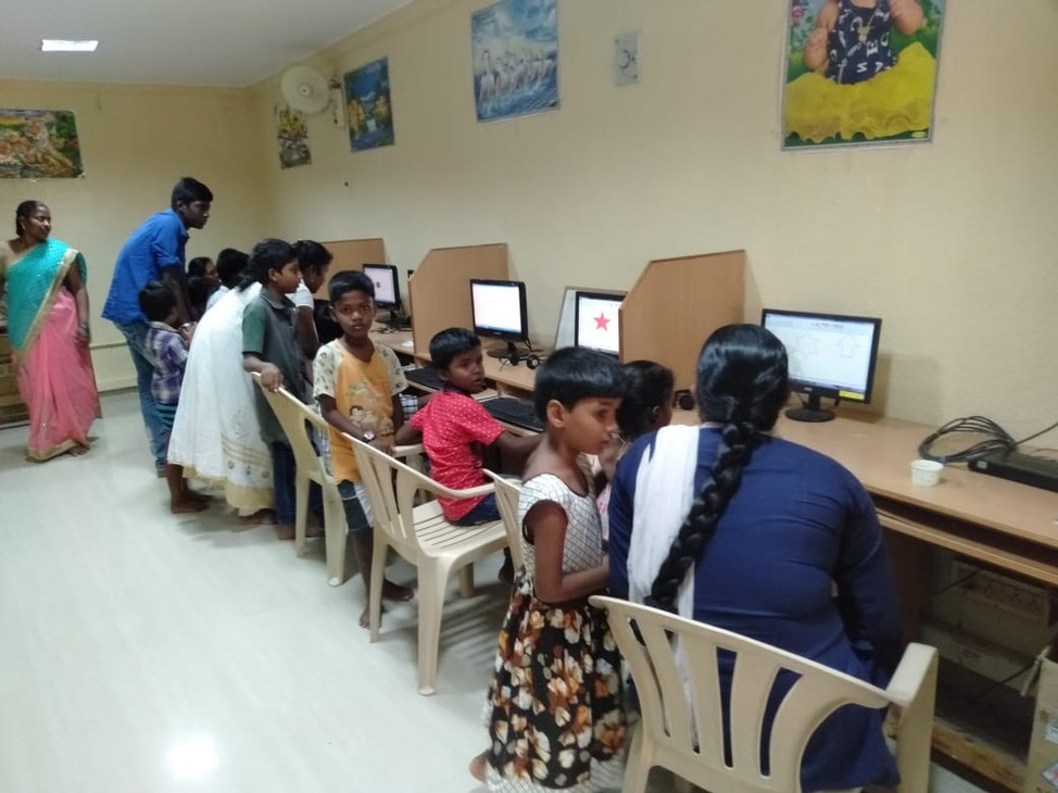 Computer training for the villagers