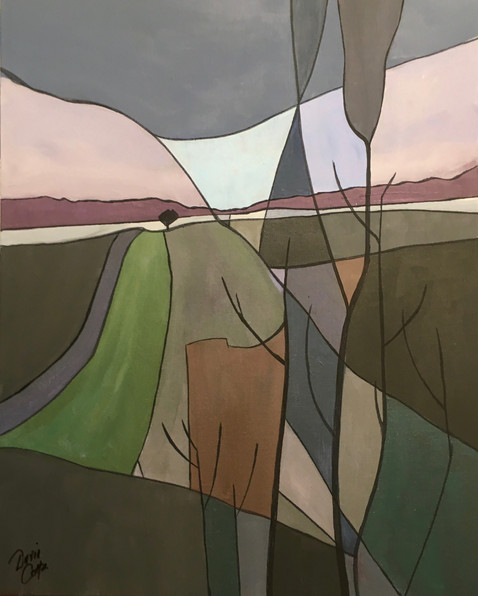 Winter Fields - acrylic - 43 x 53 - £195