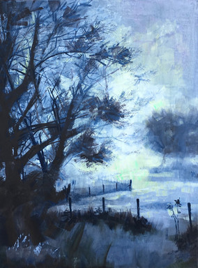 Misty morning - acrylic - 76 x 102 - Sold