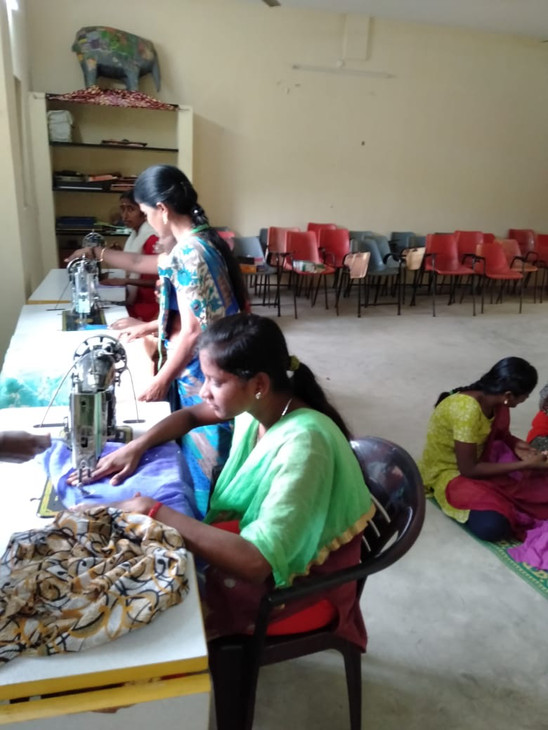 Villagers sewing classes