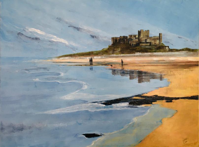 Bamburgh Castle - acrylic - Sold