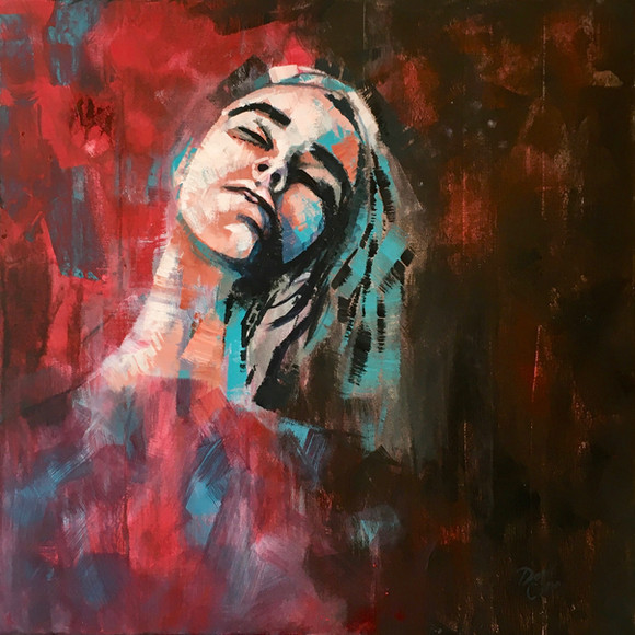 Emily - acrylic - 50 x 50 - £195