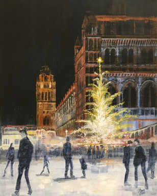Christmas at the V & A  -acrylic - 60 x 76 - £285