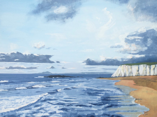 White cliffs 106 x 76 - acrylic - Sold