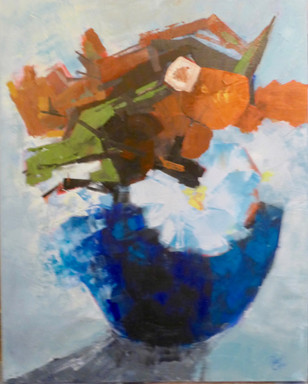 Blue Vase - oil - 60 x 76 - £245