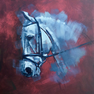 The Silver Ghost  - Oil - 50 x 50 - £295