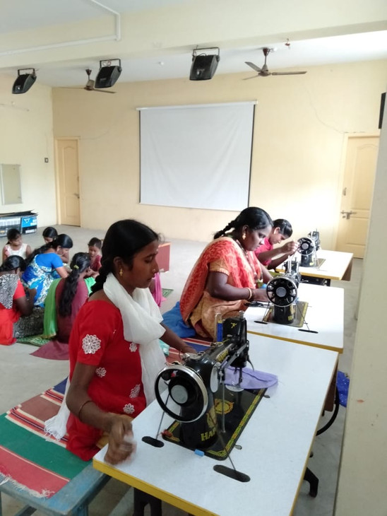 Sewing classes for the villagers