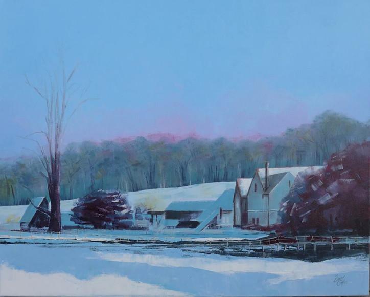 Chawton Early Morning - acrylic - 76 x 60 - £245