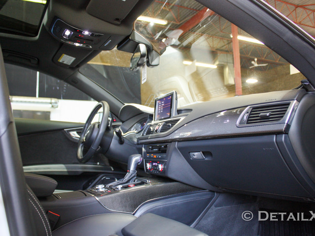 Interior detailing and reconditioning on Audi S7