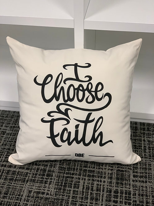 I Choose Faith cushion