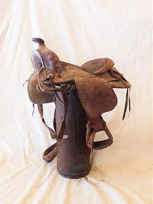 Distressed Leather Horse Saddle