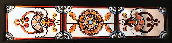 Antique Stained Glass French Doors Hoffmann Estate