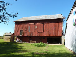 cool old historic red barn