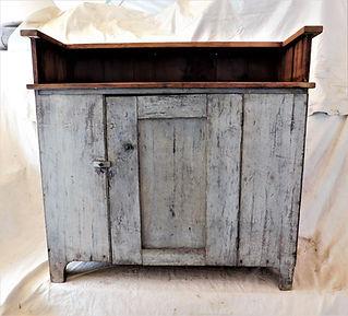 Repurposed Wood Cabinet Bar