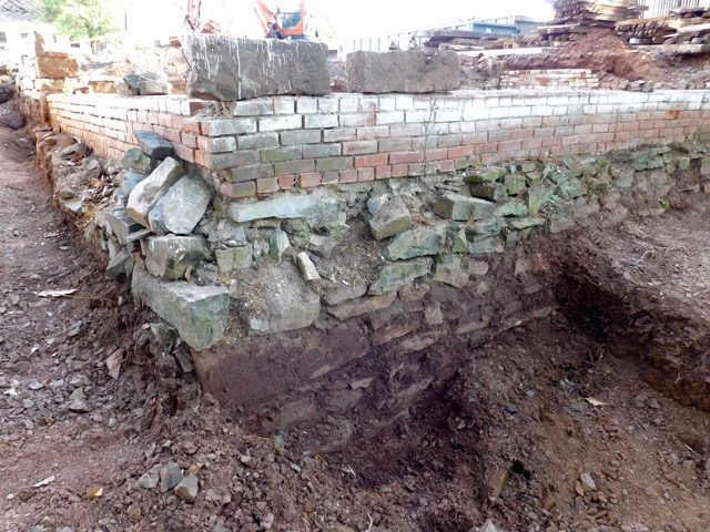 Wagon House Foundation Before