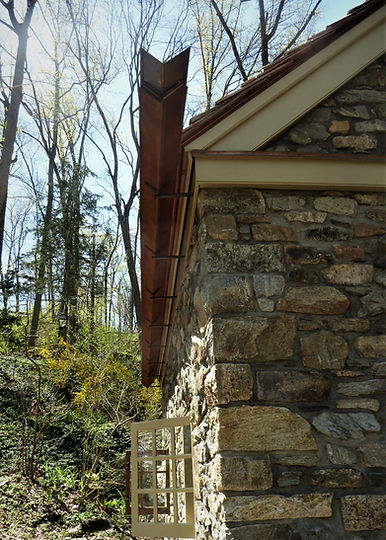 Antique Wood Roof Gutters