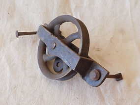 Vintage Cast Iron Pulley